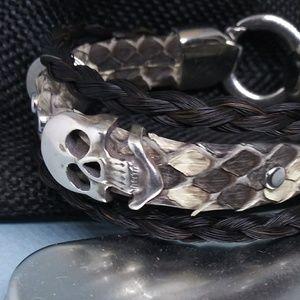 Jewelry - Python Snake & HOSEHAIR Bracelet for Men